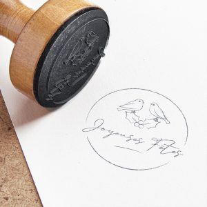 tampon bois noël - tampon oiseaux - diy noël