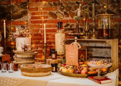 bar à thème mariage automne