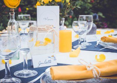 marque-place mariage champêtre