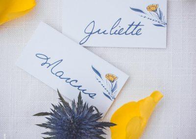 marque-places mariage champêtre