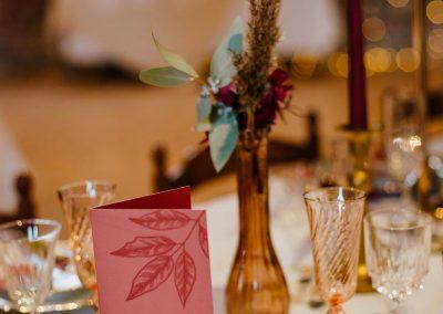 menu de mariage en automne