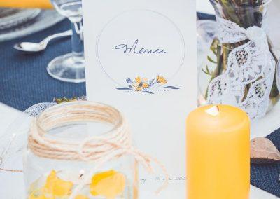 menu de mariage champêtre