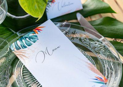 menu de mariage exotique