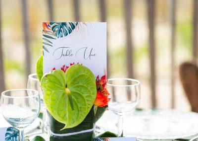 nom de table mariage exotique