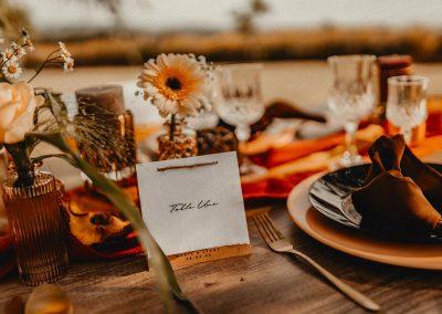 nom de table mariage champêtre à personnaliser