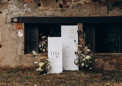 panneau de bienvenue et panneau plan de table mariage