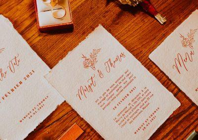 collection papeterie de mariage papier coton