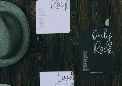 plan de table mariage rock