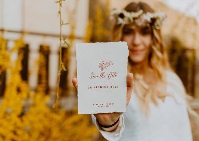 faire-part de mariage papier coton