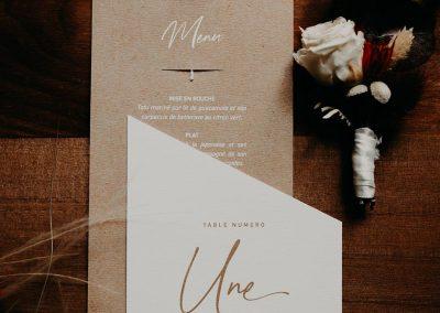 collection papeterie mariage fleurs séchées