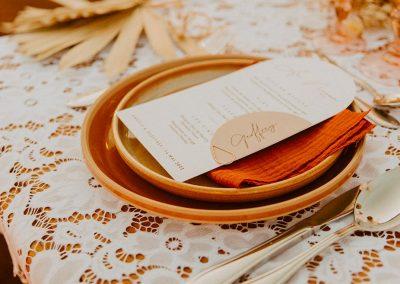 menu mariage à personnaliser moderne