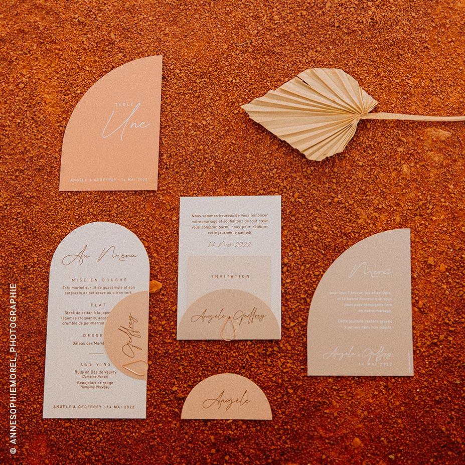 collection papeterie de mariage éco-responsable